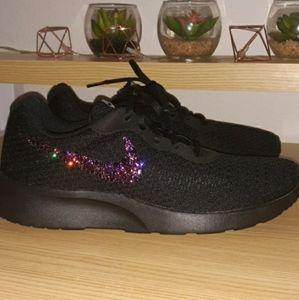 New custom Nike Tanjun Purple bling
